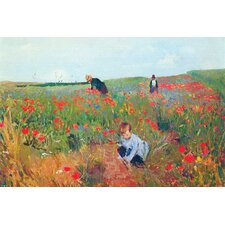 Poppies by Mary Cassatt Painting Print on Wrapped Canvas