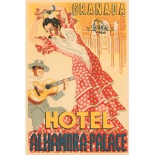 """""""Hotel Alhambra Palace"""" by Retrotravel Vintage Advertisement on Wrapped Canvas"""