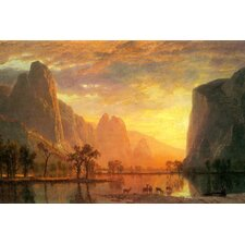 Valley in Yosemite by Albert Bierstadt Painting Print on Wrapped Canvas