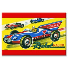 Rocket Racer Vintage Advertisement on Wrapped Canvas