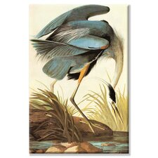 Great Blue Heron Painting Print on Wrapped Canvas