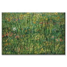 Patch of Grass by Van Gogh Painting Print on Wrapped Canvas