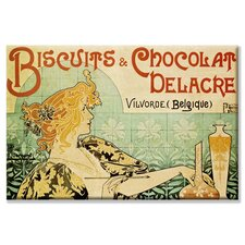 'Biscuits and Chocolate Delcare' Vintage Advertisement on Wrapped Canvas