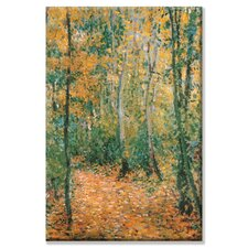 Wood Lane Painting Print on Wrapped Canvas