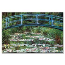 'Japanese Footbridge' by Claude Monet Painting Print on Wrapped Canvas