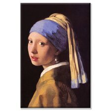 The Girl with the Pearl Earring Painting Print on Wrapped Canvas
