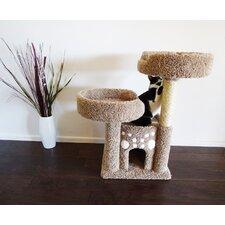 "35"" Premier Double Perch Solid Wood Cat Condo"