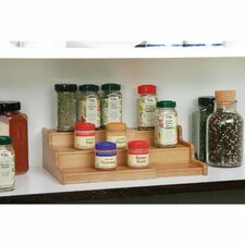 3 Tier Expandable Bamboo Spice Organizer Shelf