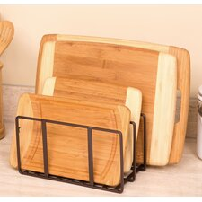 Kitchen Cabinet and Counter Top Cutting Board Organizer