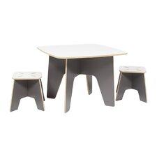 Kids 3 Piece Square Table & Stool Set