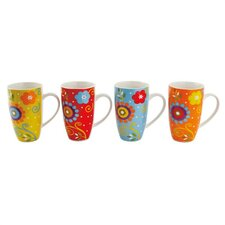 Flower Power 14 oz. Gift Boxed Mug (Set of 4)