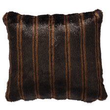 Nutmeg Leaf Fancy Mink Faux Fur Throw Pillow