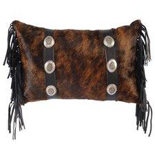 Conchos Leather Lumbar Pillow
