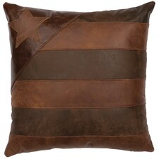 Leather/Suede Throw Pillow