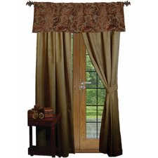 Nutmeg Leaf Rod Pocket Drape Panels (Set of 2)
