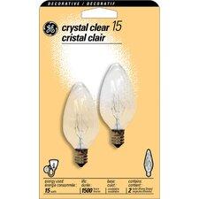 15W 120-Volt (2500K) Incandescent Light Bulb (Pack of 2)