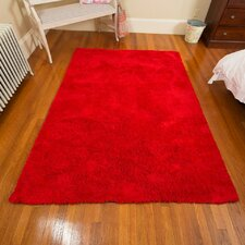 Super Soft Micro Fiber Red Area Rug