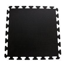 iFLEX Recycled Rubber Interlocking Floor Tiles in Black