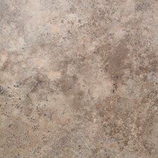 "Floorworks 18"" x 18"" x 3.05mm Luxury Vinyl Tile in Travertine Gold"