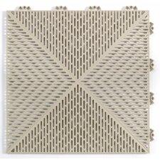 "Quick Click Polypropylene 14.88"" x 14.88"" Interlocking Deck Tiles in Sand"