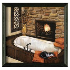 Fireplace Escape II Framed Painting Print