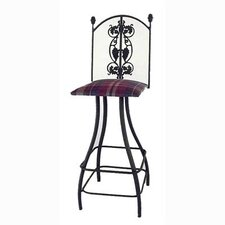 "Grapes 30"" Swivel Bar Stool with Cushion"