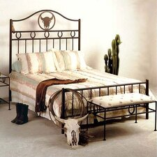 Frontier Wrought Iron Panel Bed