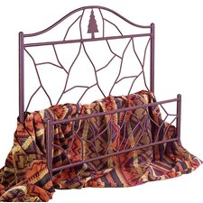 Twig Wrought Iron Panel Bed