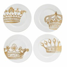 "Kings Road Redux 8"" Dessert Plates (Set of 4)"