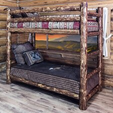 Glacier Country Twin over Twin Bunk Bed with Built-In Ladder