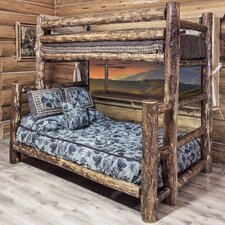 Glacier Country Twin over Full Bunk Bed with Built-In Ladder