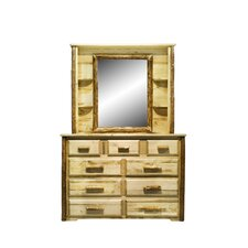 Glacier Country 9 Drawer Dresser with Mirror