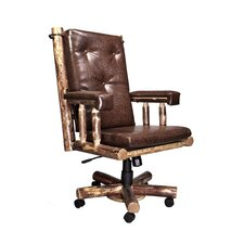 Glacier Country Upholstered Leather Executive Chair