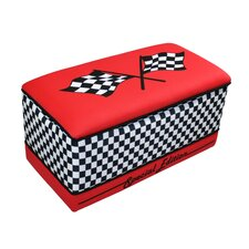 Magical Race Cars Toy Box in Red