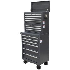 "26"" Wide 15 Drawer Tool Chest and Cabinet Combo"