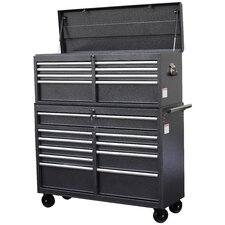 "52"" Wide 18 Drawer Tool Chest and Cabinet Combo"