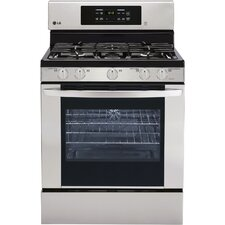 5.4 Cu. Ft. Gas Convection Range in Stainless Steel