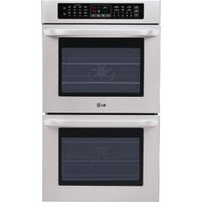 "30"" Electric Double Wall Oven in Stainless Steel"