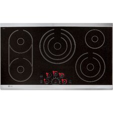 """36.69"""" Electric Induction Cooktop with 5 Burners"""