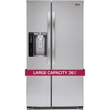 17 cu. ft. Side-by-Side Refrigerator in Stainless Steel
