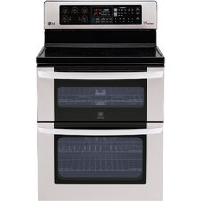 6.7 Cu. Ft. Electric Convection Range in Stainless Steel