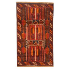 Balouchi Hand-Knotted Red/Orange Area Rug
