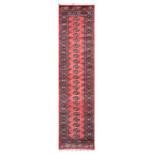 Tribal Bokhara Hand-Knotted Red Area Rug