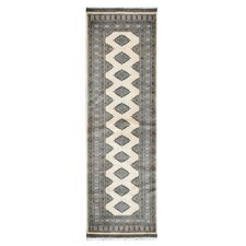 Tribal Bokhara Hand-Knotted Ivory/Black Area Rug
