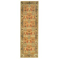 Indo Hand-Tufted Ivory and Green Area Rug