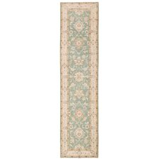 Hand-Knotted Ivory / Green Area Rug