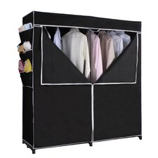 "63"" H x 60"" W x 20"" D Portable Closet in Black"
