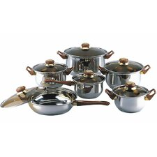 12 Stainless Steel Piece Cookware Set