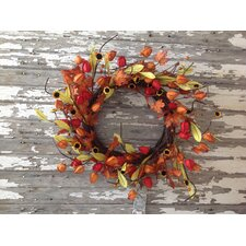 Fall Japanese Lantern Wreath