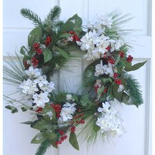 Hydrangea and Berry Wreath